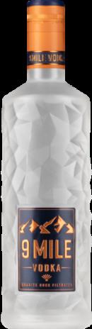 9 Mile Vodka 70 cl- Med lys