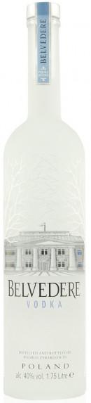 Belvedere Vodka Pure Magnum 1.75L Med Lys