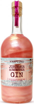 Knaplund Jordbær/Rabarber  m. Sølvglimmer 50 cl