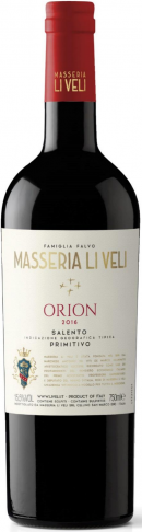 Masseria Li Veli `Orion` Primitivo Salento 2016