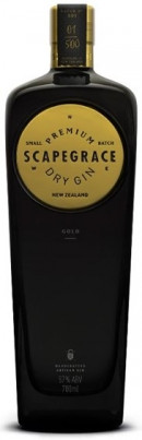Scapegrace Premium Gold Dry Gin 70 cl