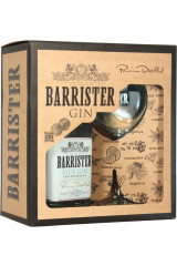 Barrister Gift Box - Blue Gin 70 cl Inkl 1 Glas