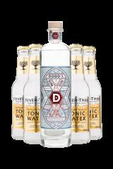 Dodd´s Genuine London Gin + 4 stk. Fever-Tree Tonic
