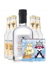 Foxdenton Gin + 4 stk. Fever-Tree Indian Tonic + 8 Stk Lakridspiber