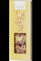 Xocolatl Snackbar - Hvid Chokolade med Solbær og Lakrids
