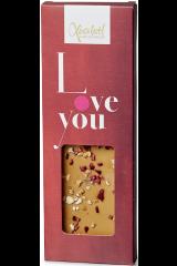Xocolatl Snackbar - Karamelchokolade med Hindbær og Hasselnød