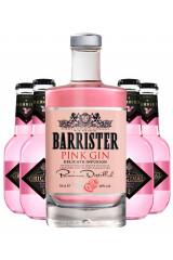 Barrister Pink Gin + 4 stk. Original Tonic Berries