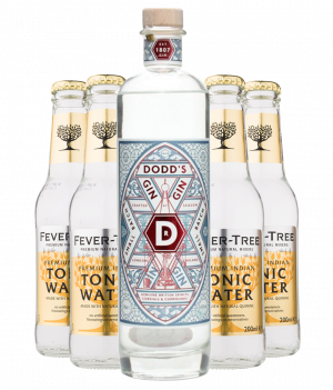 Dodd´s Genuine London Gin + 4 stk. Fever-Tree Tonic