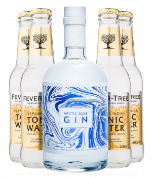 Arctic Blue Gin + 4 stk. Fever-Tree Tonic