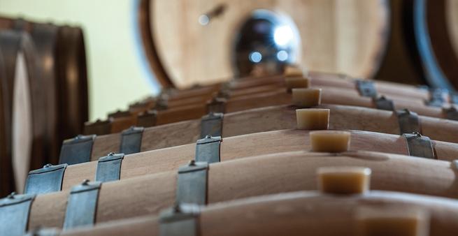 Amarone på egetræsfade i kælderen hos Corte Cavedini